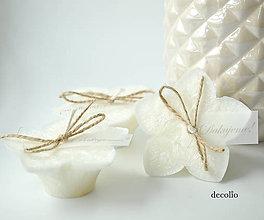 Svietidlá a sviečky - Darček a menovka - plávajúca sviečka P05 - 10865615_