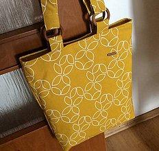 Nákupné tašky - taška žlto - horčicová - 10865813_