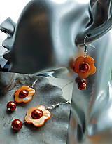 Náušnice - perleťové slniečka - 10865879_