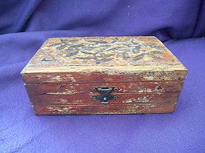 Krabičky - Drevená šperkovnička - antique - 10866138_