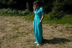 Šaty - Šaty na dojčenie - khaki s volánom dlhé - 10866233_