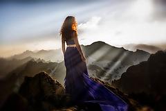 Šaty - Modré šifónové šaty Poľana - 10866341_