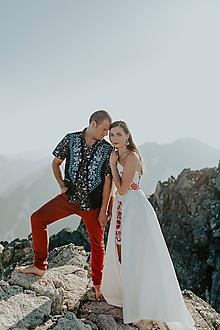 Oblečenie - pánska vyšívaná vesta Slavianka - 10866371_