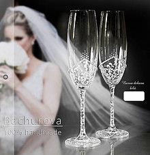 Nádoby - Svadobné poháre, dekor v bílé - 10865140_