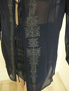 Tuniky - tunika - košeľa, ručne maľovaná, originál, 1 ks - 10866944_