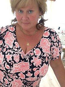 Šaty - Šaty-růžový paisley 54-56 - 10866900_