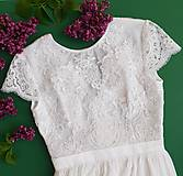 Šaty - Svadobné šaty s elastickým živôtikom a vzdušnou tylovou sukňou - 10866337_