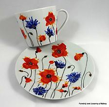 Nádoby - porcelánová šálka Divý mak a nevädza - 10866264_