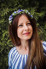 Ozdoby do vlasov - Kvetinová čelenka fialová - 10865955_