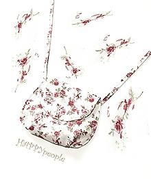 Kabelky - Romantická kabelka s ružičkami - 10866887_
