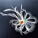 Ozdoby do vlasov - Fascinátor z peria - 10866529_