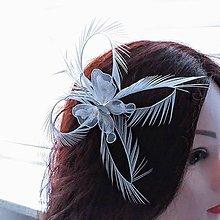 Ozdoby do vlasov - Fascinátor z peria - 10866498_