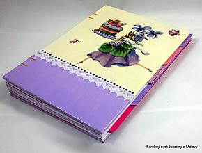 Papiernictvo - zápisník Receptár Torta a Fialky - 10865954_