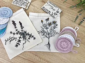 Úžitkový textil - Set tampónov v praktickom vrecúšku - 10867275_