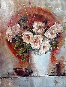 Obrazy - Zátišie s ružami 2 - 10868365_