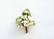 Pierka - Pierko pre ženícha s eukalyptom - 10868304_