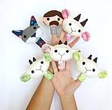 Hračky - Sada maňušiek na prst (Rozprávka o vlkovi a kozliatkach - na objednávku) - 10867832_