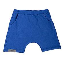 Detské oblečenie - Detské kraťasy kráľovská modrá - 10868432_