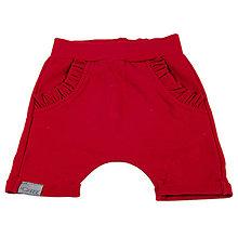Detské oblečenie - Detské kraťasy červené s volánikom - 10868461_