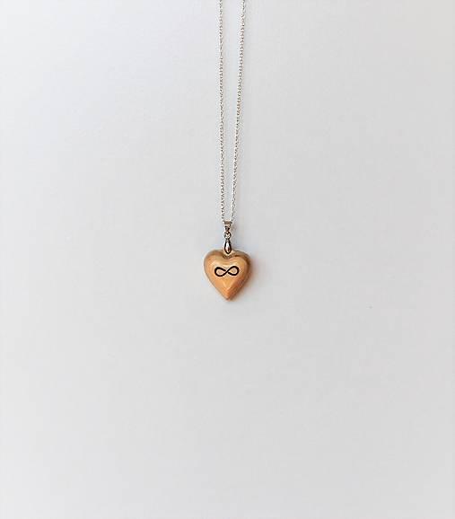 Drevený náhrdelník - Nekonečná láska verzia 1