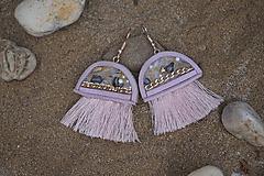 Náušnice - Medúzy ružovozlaté - 10868399_