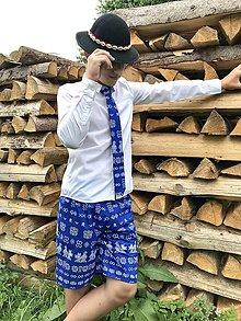 Oblečenie - Pánske folklórne kraťasy Čičmany - 10868448_