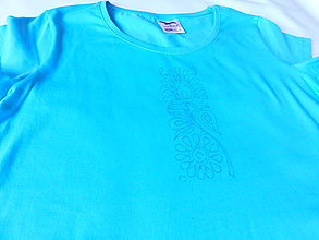 Polotovary - Tričko na vyšívanie - čatajský vzor - 10867594_