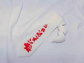 Doplnky - Ručne vyšívaná kravata - 10868147_