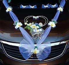 Dekorácie - výzdoba na svadobné auto - 10868035_