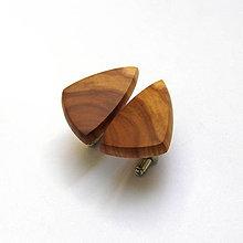 Šperky - Drevené manžetové gombíky - jabloňové kúsky - 10867739_