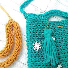 Veľké tašky - LOVE bag - green - 10868978_