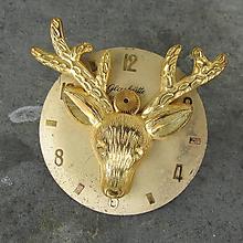 Odznaky/Brošne - Brož se zlatým jelenem na ciferníku GLASHUTTE - 10871262_