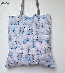 Nákupné tašky - Nákupka - Lední medvědi/puntíkatá ucha - 10870426_