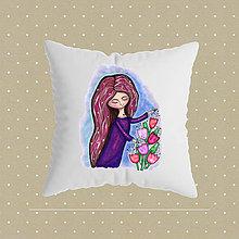 Úžitkový textil - Pani Tulipánová_obliečka na vankúšik - 10869365_