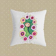 Úžitkový textil - Pani Kvetina_obliečka na vankúšik - 10869728_