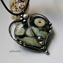 Náhrdelníky - Z lásky (jaspis oceánový) - 10870200_
