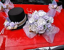 Dekorácie - Sada na auto pro nevěstu a ženicha - 10869411_