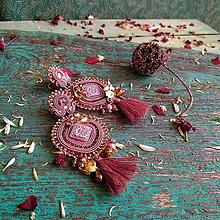 Náušnice - Rustic roses - sutaškové náušnice - 10868881_