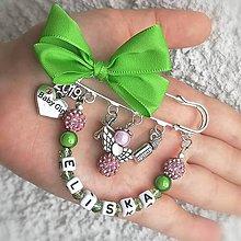 Odznaky/Brošne - Brošnička shamballa anjel  (Zeleno-ružová) - 10868842_
