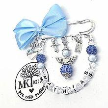 Odznaky/Brošne - Brošnička shamballa anjel  (Modrá) - 10868847_