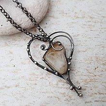 Náhrdelníky - FALKO heart náhrdelník - 10871373_
