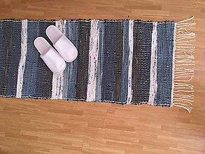 Úžitkový textil - Koberček v modrom - 10870121_