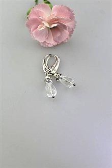 Náušnice - krištálové náušnice - prírodný brúsený krištál - 10871298_