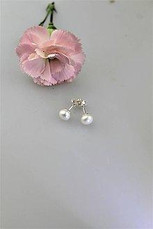 Náušnice - perly náušničky v striebre napichovačky - 10871338_