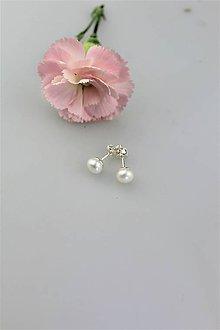 Náušnice - perly náušnice napichovacie AKCIA! - 10871348_