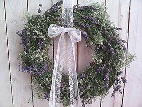 """Dekorácie - Prírodný veniec na dvere """" s vôňou levandule ..."""" - 10870513_"""