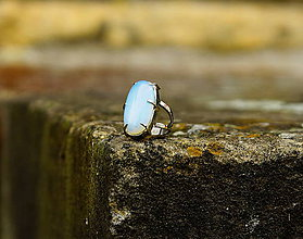 "Prstene - Nerezový prsten... "" Blue "" - 10869656_"