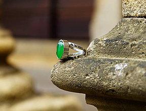 "Prstene - Nerezový prsten... "" Green "" - 10869671_"