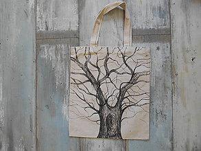 Nákupné tašky - pevná látková taška - strom - 10868619_