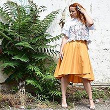 Sukne - Asymetrická zavinovacia sukňa - 10868866_